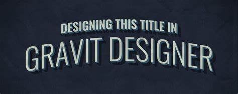design html title create a retro title graphic using gravit designer