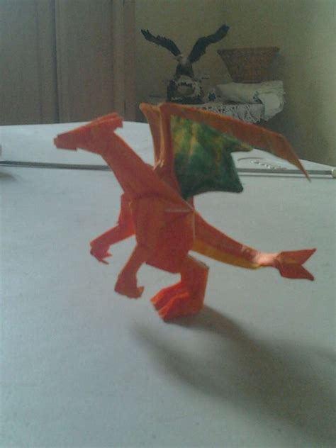 How To Make An Origami Charizard - origami charizard by wolfsanchez on deviantart