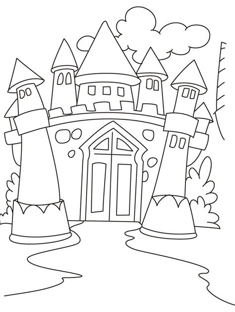 castle coloring pages download free medieval castle