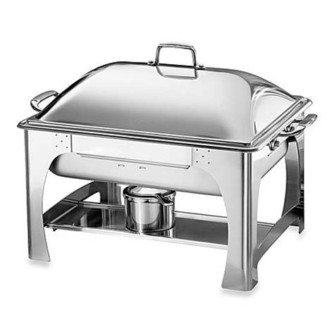 chafing dish bed bath and beyond tramontina 174 6 quart rectangular stainless steel chafing dish with dome
