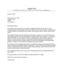 Substitute Cover Letter Sles by Letter Of Application Letter Of Application Substitute