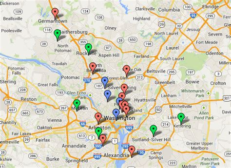 washington dc universities map what if we ranked schools based on their walkability