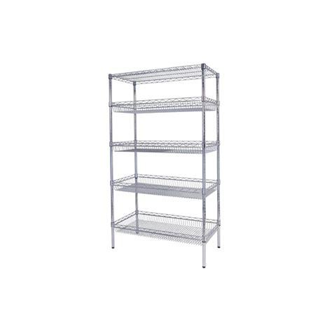 baskets for shelves basket shelf for chrome wire shelving w1220 x d460mm