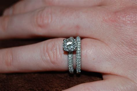 brilliant engagement ring with micro pave band and