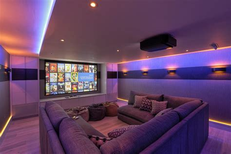 home theatre design uk big comfy couch home theater contemporary with cinema room