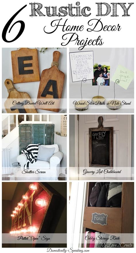 diy home decor projects 6 diy rustic home decor items friday features