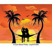EPS Vector Of Lover Watching Sunset  The