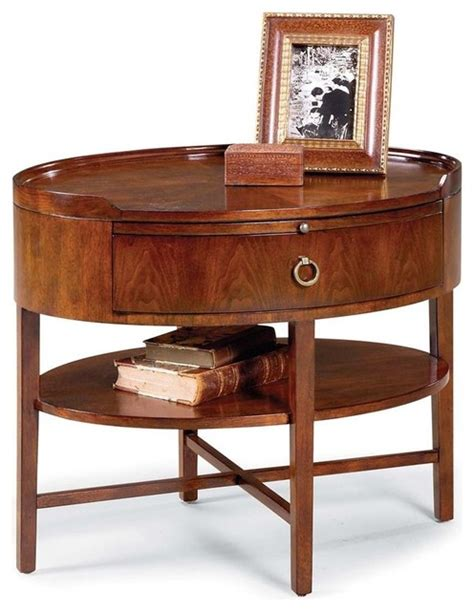 modern end table with drawer modern oval end table w drawer shelf in can