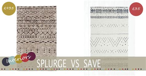 cheap style rugs splurge vs save berber rug family home lifestyle