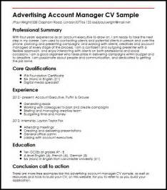 Advertising Account Director Resume Advertising Account Manager Cv Sample Myperfectcv