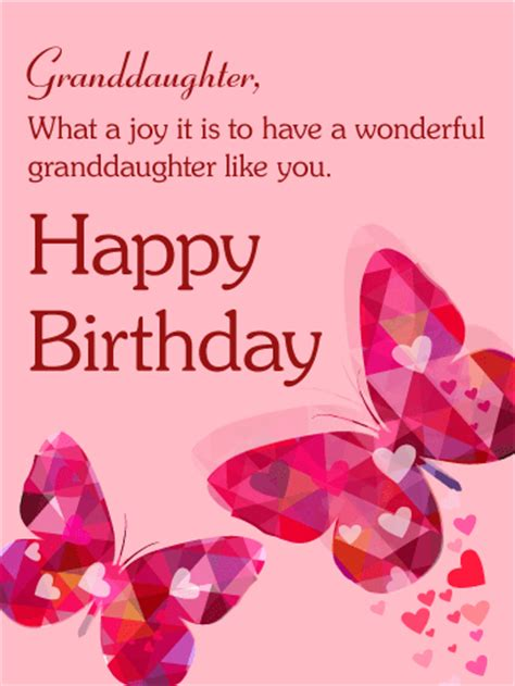 Happy Birthday Wishes For A Granddaughter To My Precious Granddaughter Happy Birthday Card