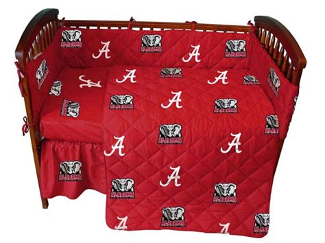 alabama crimson tide bathroom set alabama crimson tide ncaa baby crib set