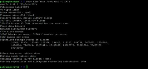 format fat32 mkfs use usb hard disk flash drives with your raspberry pi
