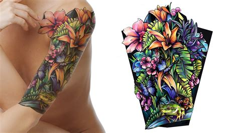 colour sleeve tattoo designs get custom designs made ctd