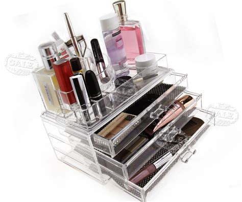 acrylic makeup organizer tipe ndx makeup cosmetics organizer 3 drawers storage box clear