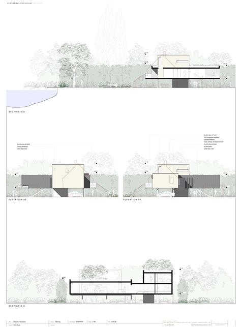 glass house section philip johnson glass house plans and sections escortsea