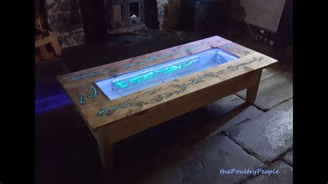 diy pallet coffee table glow   dark wood projects