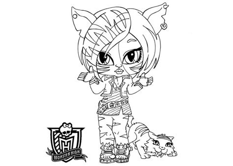 free coloring pages of baby monster high