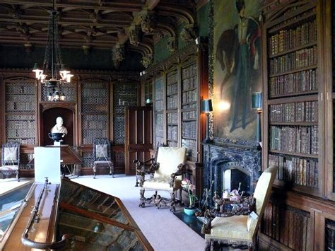 English Homes Interiors file abbotsford house library jpg