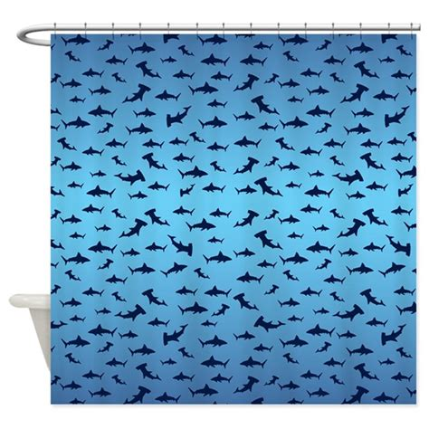shark curtains sharks shower curtain by crazybouthercat