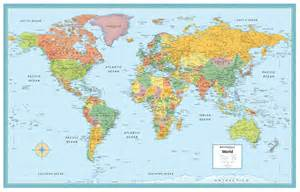 Big Map Of The World by World Map Poster M Series Large Wall Map Rand Mcnally
