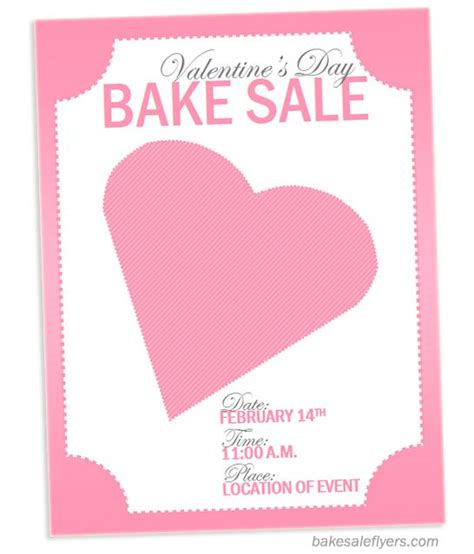 valentine s flyer for bake sale http bakesaleflyers com