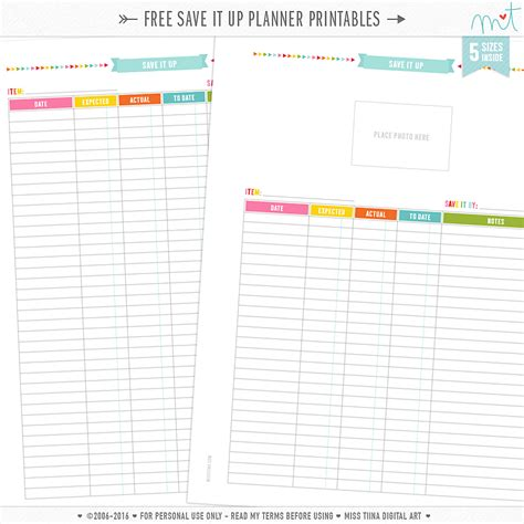 free printable planner sheets free planner pages