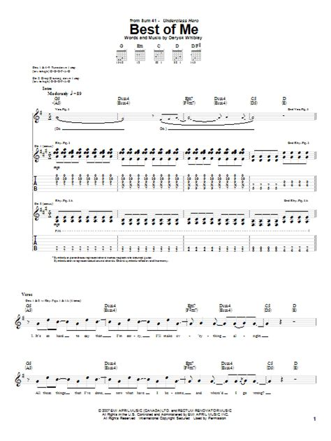 sum 41 pull the curtain lyrics best of me sheet music direct