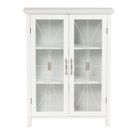 Wooden Cabinet With Glass Doors Bath Storage Spacesaver With Glass Doors Savvy Storage At Kmart