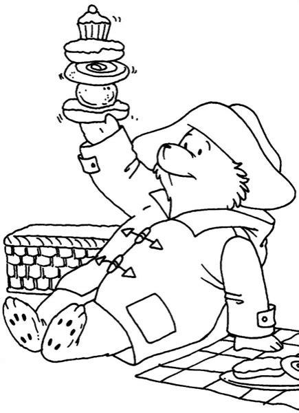 Paddington Baymax picnic with paddington coloring page ecoloringpage