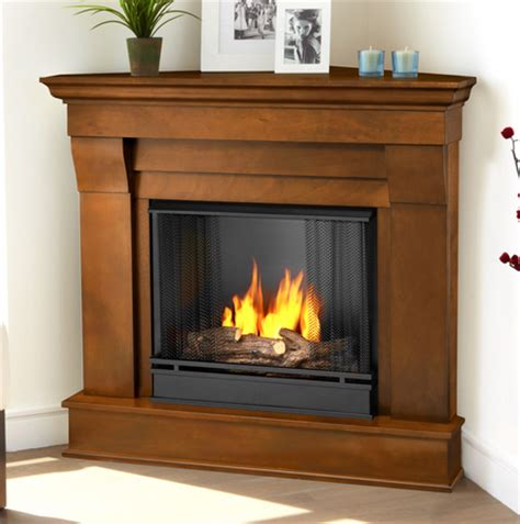 corner gel fireplace 40 94 quot chateau espresso corner gel fireplace