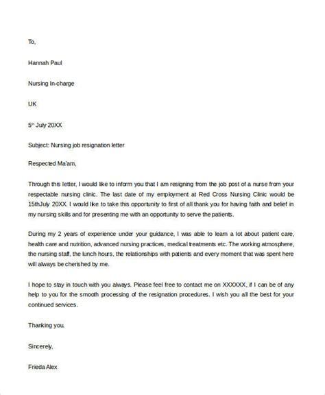 Nursing Resignation Letter Sles by 30 Resignation Letter Formats Templates Pdf Doc