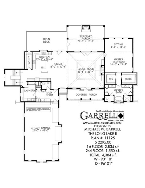 Long Floor Plans by Long Lake Ii House Plan Covered Porch Plans
