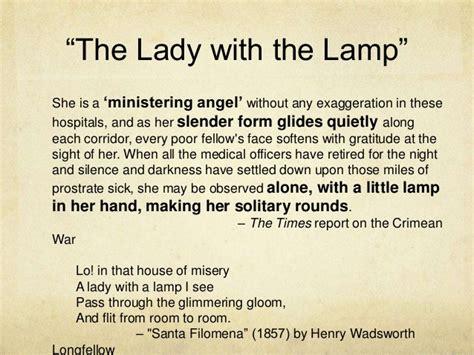 lady   lamp poem poem index  bigtentpoetryorg