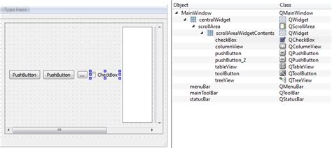 qt layout list qt creator how to add a scroll area for a horizontal