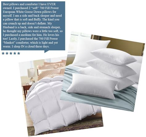 Spotlight European Pillows by Cuddledown Product Review Spotlight 700 Fill Power
