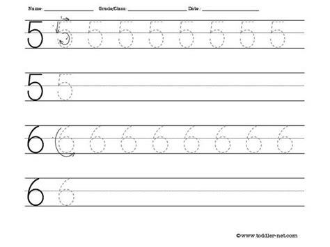 printable tracing number 5 tracing worksheet numbers 5 and 6