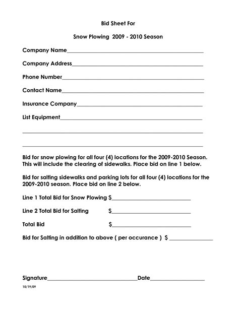 10 Best Images Of Snow Plow Proposal Forms Snow Removal Proposal Template Snow Removal Bid Snow Plowing Bid Template