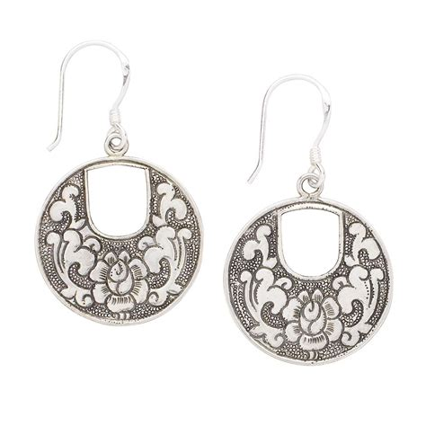indian fashions styles earrings in sterling silver and
