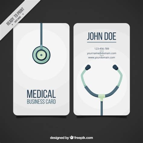 doctor business card template free business card vector free