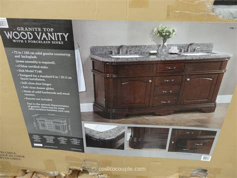 22 Inch Vanity Lanza 72 Inch Double Sink Vanity With Granite Top