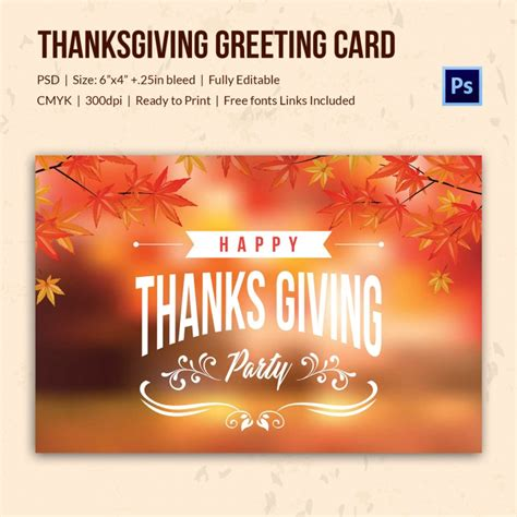 template for giving card 45 thanksgiving designs free printable psd ai