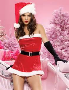 Sexy red christmas santa claus women costumes satin outfit camouflage