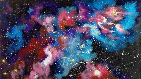 watercolor nebula tutorial how to make a galaxy background with paint background ideas