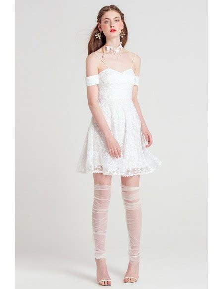 Spaghetti Dress White white spaghetti lace dress gemgrace
