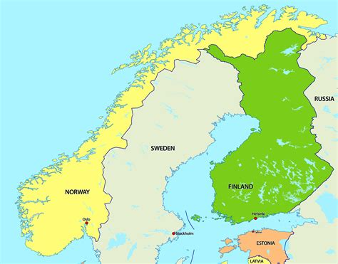 map northern europe scandinavia large big map and flag of all country maps flags