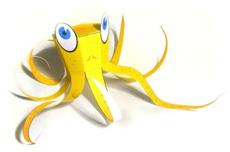 Octopus Papercraft - papercraftsquare new paper craft simple octopus free