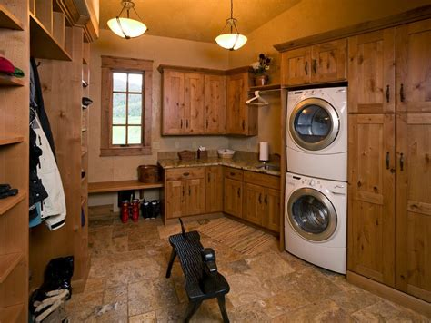 Rustic Cabin Kitchen Ideas rustic laundry room ideas laundry room eclectic with tan