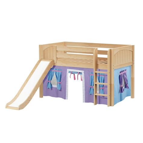 low loft bed with slide maxtrixkids pit27 np low loft bed with straight ladder