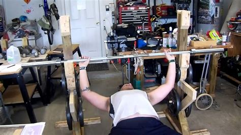 homemade bench press homemade bench press and squat rack youtube